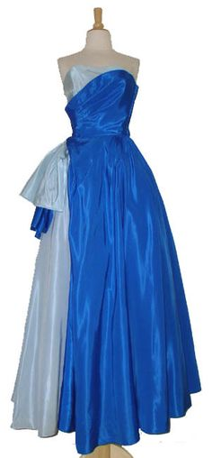 Vintageous, LLC - Amazing Will Steinman Two Toned Blue Taffeta Strapless 1950's Ball Gown, $265.00 (http://www.vintageous.com/amazing-will-steinman-two-toned-blue-taffeta-strapless-1950s-ball-gown/)