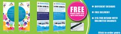 Need your Roller Banners printing in London today? Contact our sales office to arrange your same day roller banner printing in London from only £79 + vat - http://www.london-roller-banners.co.uk/