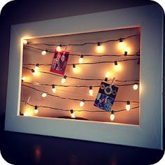I so want to do this with Just pictures and the empty frame i got at the flea market - KJ - use with old Christmas photos