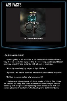 Battlefield Earth, The Learning Machine http://battlefieldearth.com/weapons/ @BE_the_Book #KnowledgeIsPower!#AwesomeTeam♥#Odycy☮