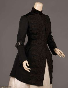 Mourning Bodice | House of Worth | Paris | 1880s | silk curass, velvet | Augusta Auctions