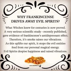 Burning Frankincense is Antidepressant - Magical Recipes Online