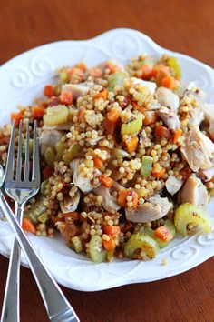 Quick Dinner Idea.  Easy Chicken and Couscous Skillet Dinner