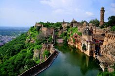 Chittorgarh Fort, India. Chittorgarh Fort is the largest fort in India and the grandest in the state of Rajasthan.