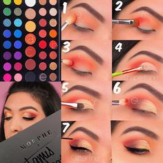 ✨MORPHE X JAMES CHARLES✨ . I finally got my hands on the new James Charles Morphe palette (it's sold out online and pretty much every… Makeup Eye Looks, Eye Makeup Steps, Cute Makeup, Creepy Makeup, Makeup 101, Skin Makeup, Makeup Inspo, Makeup Brushes, Makeup Ideas