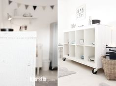 nice IKEA hack: shabby chic for EXPEDIT