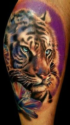 Tiger tattoo is getting popular in both man and woman. So here we will provide 101 tiger tattoo design that makes your identity unique and attrective. Great Tattoos, Beautiful Tattoos, New Tattoos, Body Art Tattoos, Fearless Tattoos, Tatoos, Dragon Tattoos, Awesome Tattoos, Hand Tattoos