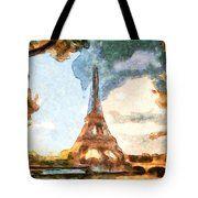 Eiffel Tower - Paris Tote Bag by Riccardo Zullian