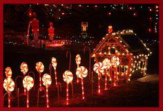 Christmas lights display Photograph  - Christmas lights display Fine Art Print