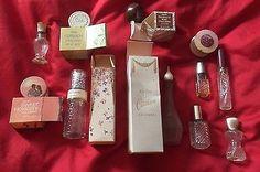 Avon 11 vintage empty perfume lip gloss Hershey Cotillion Honesty sachet Violets