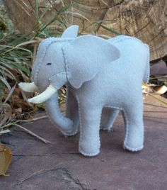 Elephant Felt Elephant Wool Elephant ETSY gifts by HollysMeadow