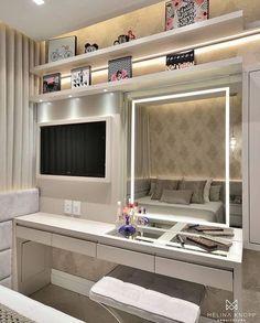 Bedroom Closet Design, Girl Bedroom Designs, Room Ideas Bedroom, Small Room Bedroom, Home Decor Bedroom, Home Design Decor, Home Room Design, Interior Design, Beauty Room Decor
