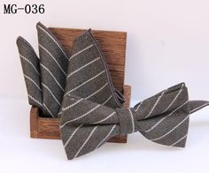 Butterfly Bow Tie Pocket Square Handkerchief Set