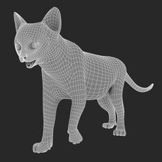 3d base mesh lioness  topology  pinterest  3d