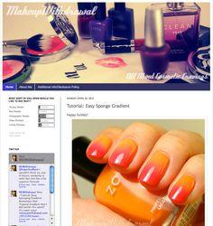 Zoya Nail Polish, Zoya Nail Care Treatments and Zoya Hot Lips Lip Gloss: Easy Sponge Gradient Tutorial featuring Zoya Nail Polish