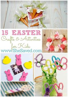15 Easter Crafts and Activities for Kids from She Saved. Have your children get ready for Easter and Spring with these great activities and crafts.