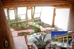 The indoor garden of this Earthship reminds me a lot of my current yard...and is probably close to the same size!