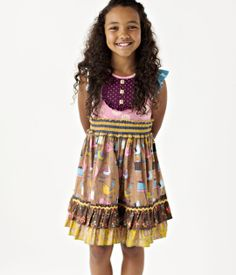 Matilda Jane Clothing ~ Paint By Numbers ~ Butternut Tank Dress