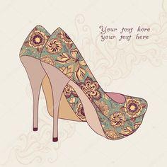 depositphotos_21642285-stock-illustration-a-high-heeled-vintage-shoes.jpg (1024×1024)