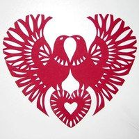 Decorative heart made with vycinanka/paper cutting. By Lizavieta Čyrvoncava, Belarusan artist Folk Embroidery, Embroidery Patterns, Paper Cutting, 3d Drawing Pen, Polish Folk Art, Bokashi, Arte Tribal, Quilled Paper Art, Paper Cut Design
