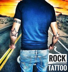 Rock Tattoo, S Tattoo, Star Tattoos, Life Tattoos, T Shirts For Women, Stars, Unique, Instagram, Fashion
