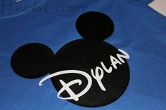 Personalized Mickey Mouse shirt!