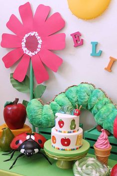 Love this Very Hungry Caterpillar birthday party! See more party ideas at CatchMyParty.com!