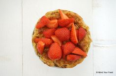 Havermout taartje met aardbeien - Mind Your Feed