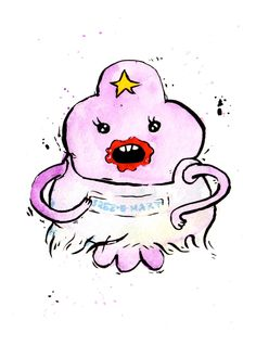 Items similar to Lumpy Space Princess in a Plastic Dress LSP Mini Print inch inch inkjet print / Adventure Time Fan Art on Etsy Cartoon Network Adventure Time, Watch Adventure Time, Adventure Time Characters, Adventure Time Anime, Fin And Jake, Jake The Dogs, Lumpy Space Princess, Abenteuerzeit Mit Finn Und Jake, Dibujos Pin Up