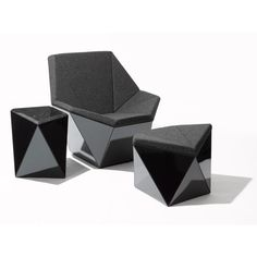 Washington Prism™ Lounge Chair and Ottoman designed by David Adjaye | Knoll