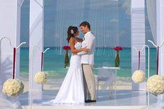 ubride and groom beach front nuptials