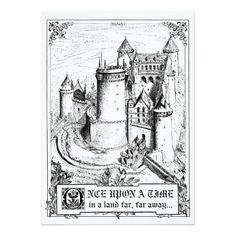 Shop Fairy Tale Storybook Wedding Place Cards created by RenImasa. Fairytale Wedding Invitations, Wedding Invitation Size, Wedding Postcard, Vintage Wedding Invitations, Fairy Tale Story Book, Fairy Tale Theme, Fairy Tales, Wedding Places, Wedding Place Cards