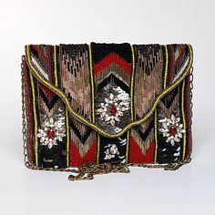 Black Embroidered Clutch by ShaunDesign on Etsy, $40.15
