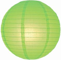 6 8 Round Lime Paper Hanging Lanterns Summer Outdoor by jeannie246, $5.99