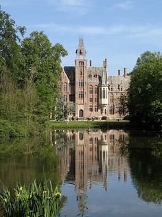 Loppem Castle (Dutch: Kasteel van Loppem) is a castle situated in Loppem in the municipality of Zedelgem, near Bruges in West Flanders, in the Flemish Region of Belgium. It was built between 1859 and 1862 for Baron Charles van Caloen and his family, and designed by architects E.W. Pugin and Jean-Baptiste de Béthunein 1856. It is considered a masterpiece of civil Gothic Revival architecture.