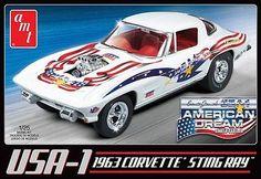 AMT 1/25 USA-1 1963 Chevy Corvette