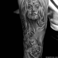 Sugar Skull Tattoo @Andrew Mager Nagy i like her face. maybe an idea for your arm