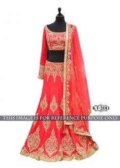 Bollywood Replica - Bridal Red Banglori Silk Lehenga Choli - KT-2013