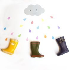 It seems that we will have a rainy weekend! Don't worry with Aigle boots the rains is colorful and joyful!  @aiglefr . #shoes #shoesaddict #boots #rain #rainyday #colorful #clouds #kidsinnocence #dontneedumbrellas #wearefans #moodoftheday #mood #paris #kidsshop #kidshoes