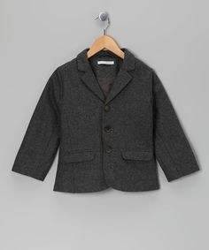 Take a look at this LIHO Gray Wool-Blend Steven Blazer - Toddler & Boys by Posh & Petite Collection on #zulily today!