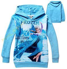 Disney Frozen Elsa Princess Kids Girls Baby Jacket Coat Clothing T-shirt  shirt