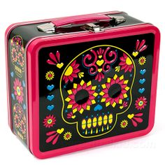 DIA DE LOS MUERTOS/DAY OF THE DEAD~NEON DAY OF THE DEAD LUNCHBOX