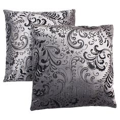 Found it at Wayfair - Accent Pillow in Silver (Set of 2)
