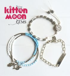 More summer jewellery fresh in my Etsh shop today with this Boho style set of 3 bracelets. Ideal for stacking.