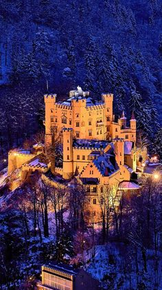At the Castle Hohenschwangau in Bavaria, Germany.