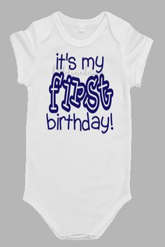 First Birthday Onesie for Boys by LittleLanieDesigns on Etsy