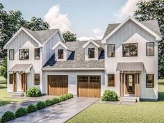 932 sf Per Unit House Porch Design, House With Porch, My House, Porch Plans, Backyard House, Duplex House Plans, Family House Plans, Home Hacks, My Dream Home