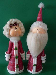 Casal Noel aproximadamente 30 cm