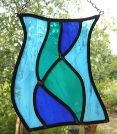 stained glass sun catcher waterfall