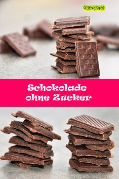 Low Carb Zartbitter Schokolade – Staupitopia Zuckerfrei Make low carb dark chocolate yourself: 3 ingredients, 3 minutes & WITHOUT sugar! You cannot make low-carb chocolate yourself easier!staupitopia-z … Low Carb Sweets, Vegan Sweets, Low Carb Desserts, Vegan Snacks, Chocolate Low Carb, Vegan Chocolate, Chocolate Desserts, Raw Food Recipes, Low Carb Recipes